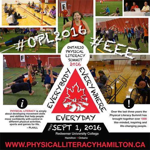 Ontario Physical Literacy Summit 2016
