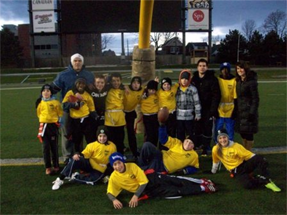 Junior Boys Flag Football Semi-finalists team picture